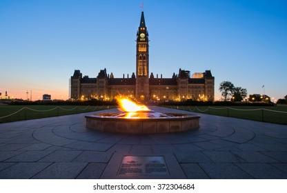 The twilight on Parliament hill, Ottawa