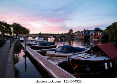 Twilight on the River at Henley-on-Thames in Oxfordshire, UK