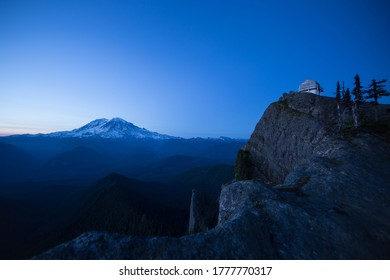 Twilight On A Summer Evening At High Rock Lookout In Washington State