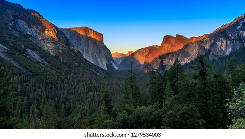 Twilight on Yosemite Valley, Yosemite National Park, California