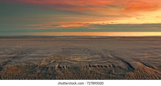 """""""Twilight Sand Impressions"""" Interesting sand formations and textures at twilight in December on the beach at low tide on Hilton Head Island, SC."""