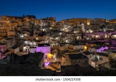 Twilight at Sassi di Matera