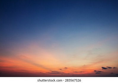 Twilight sky background
