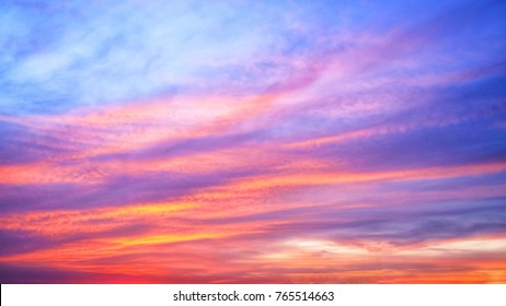Twilight sky background with Colorful sky in twilight background