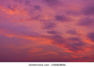 Twilight sky with colorful.(copy space)