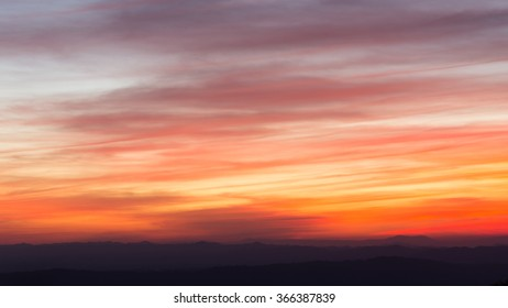 Twilight sky and Mountain background