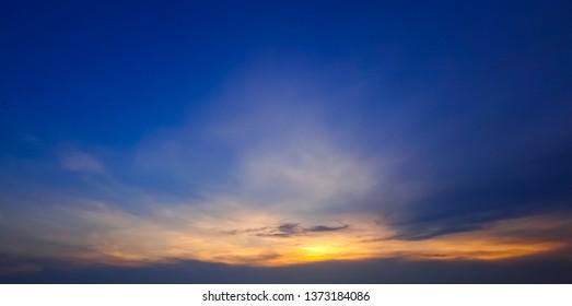 Twilight sky, Nature background