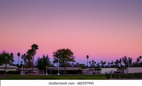 Twilight sky at Palm Springs.