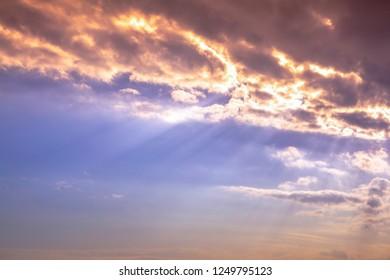 twilight sky and sunlight background