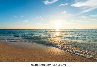 Twilight sunsets and beautiful beaches, Okinawa, Japan