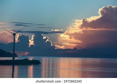 Twilight at Victoria Harbor, Seychelles