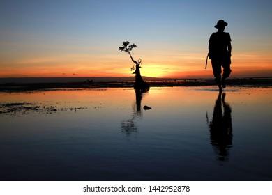 twilight Walakiri beach, Sumba timur island of Indonesia