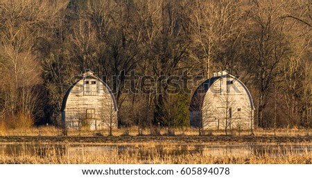 Twin Barns Billy Frank Jr Nisqually Stock Photo Edit Now 605894078