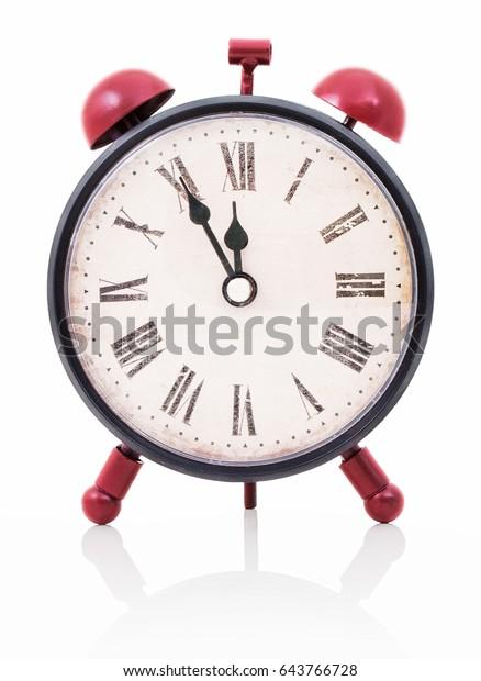 Twin Bell Alarm Clock Roman Numerals Stock Photo (Edit Now