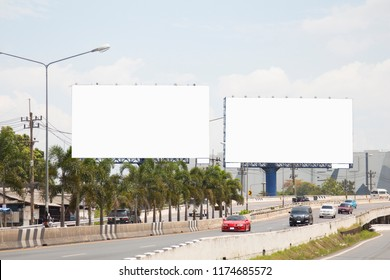 Twin blank billboard for advertisement