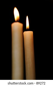 Twin candles.