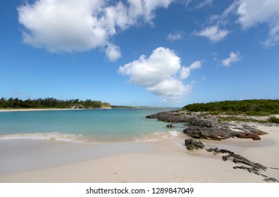 Twin Cove Beach, Eleuthera island, Bahamas.