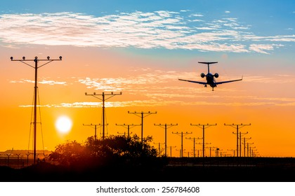 Runway Lights Images, Stock Photos & Vectors | Shutterstock