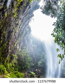 Twin Falls hike in the Springbrook National Park, Queensland, Australia