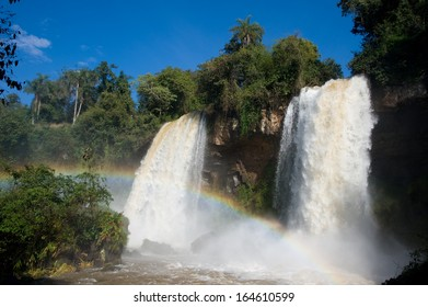 The Twin Falls at Iguazu Falls on the border of Argentina and Brazil