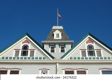 """""""Twin Inns"""" built in 1887 in Queen Anne architectural style; Carlsbad, California"""