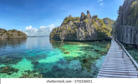 Twin Lagoon in coron island, Palawan, Philippines