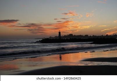 February 17, 2018 Twin Lakes Beach Santa Cruz, Califorina. USA