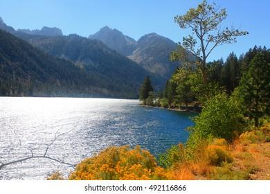 Twin lakes recreation area in Sierra Nevada mountains near Bridgeport California