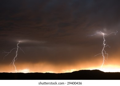 Twin Lightning Bolts