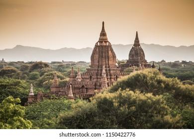 Twin pagoda in Bagan