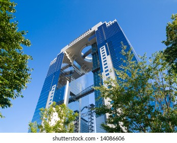 Twin tower office building in Osaka Japan