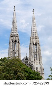 Twin towers of gothic church