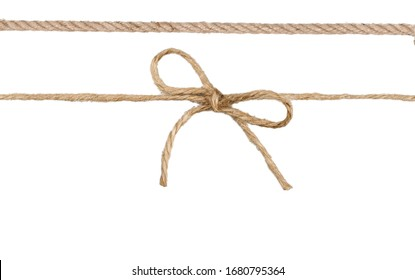 Twine rope with bow.Package decor.