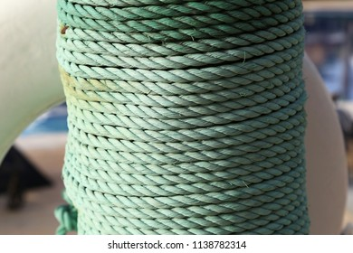 Twine wrapped in a column