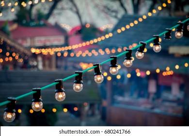 A twinkle of lights from Winter Wonderland in London.