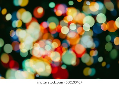 Twinkly Lights and Stars Christmas Background