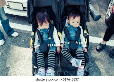 Twins baby stroller