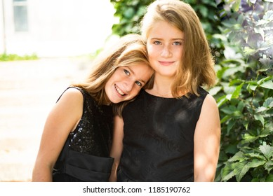 Twins Sisters Two Cute Beatiful Twins Stock Photo Edit Now