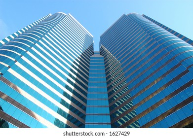 Twins tower business building
