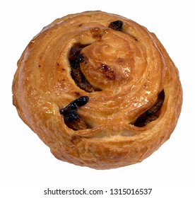 Twisted bun with raisins