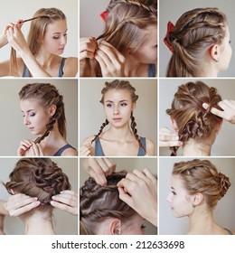 twisted hairdo tutorial by beauty blogger