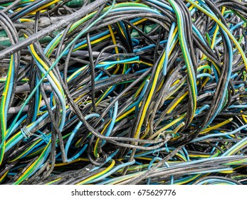Twisted and knotted electrical cables and wires