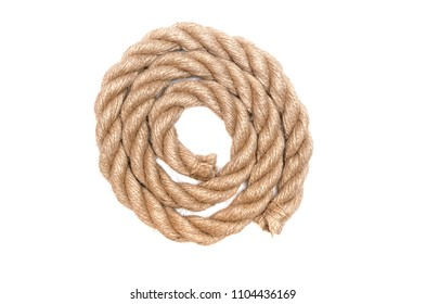 Twisted rope isolated on the white background.