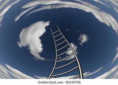 Twisting Ladder Leads to Sky