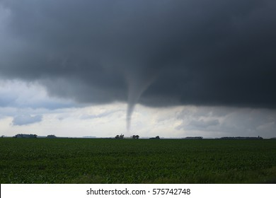 A twisting tornado touched down briefly on June 14th, 2016 in Western Minnesota/ Tornado Alley Twister/ Tornado In Tornado Alley