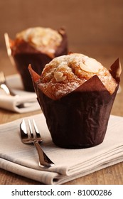 two almond muffins