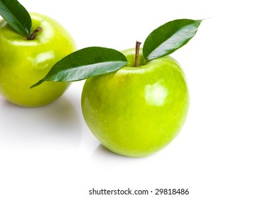 Two Apples, isolated on white