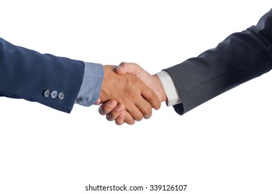 Two Asian businessmen shake hands. Two Asian businessmen to introduce themselves.