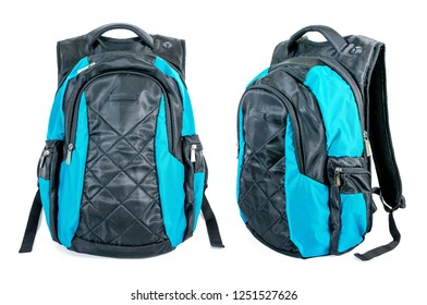 Two of backpack isolated on white background. Modern backpack for laptop isolated