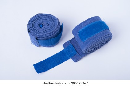 Two bandage for boxing on a white background